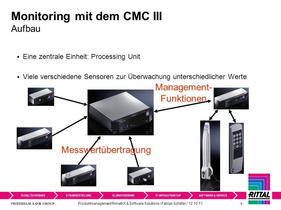 Monitoring mit dem CMC III Aufbau