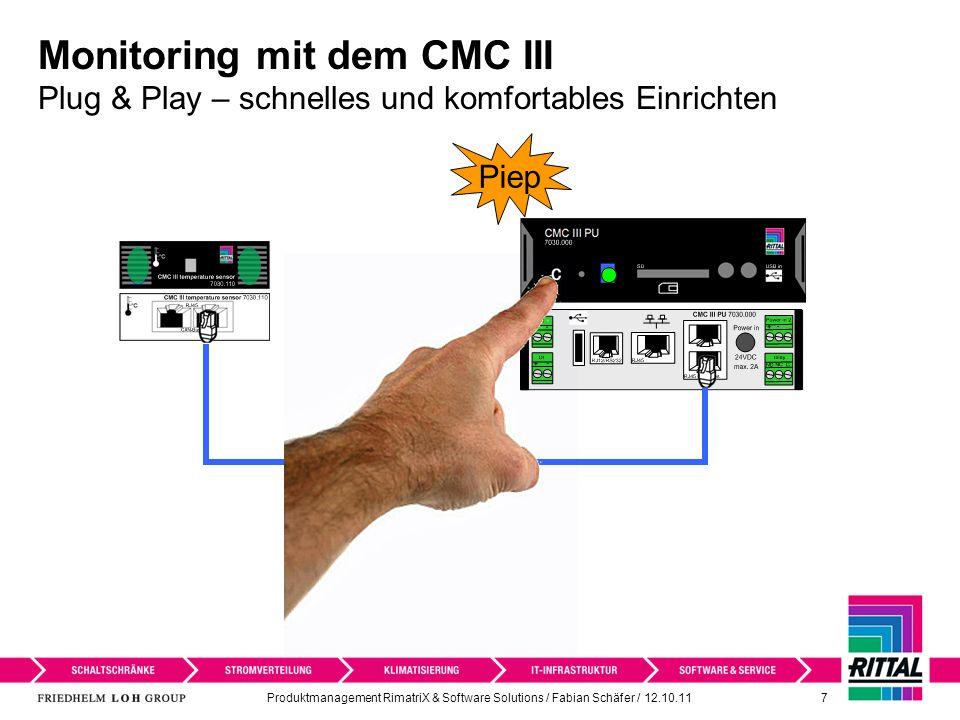 Monitoring mit dem CMC III Plug & Play – schnelles und komfortables Einrichten