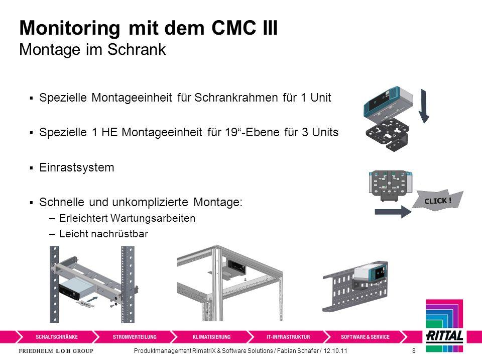 Monitoring mit dem CMC III Montage im Schrank