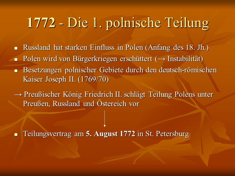 1772 - Die 1. polnische Teilung