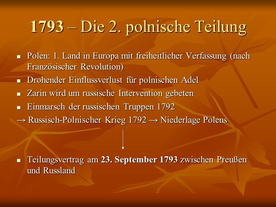 1793 – Die 2. polnische Teilung