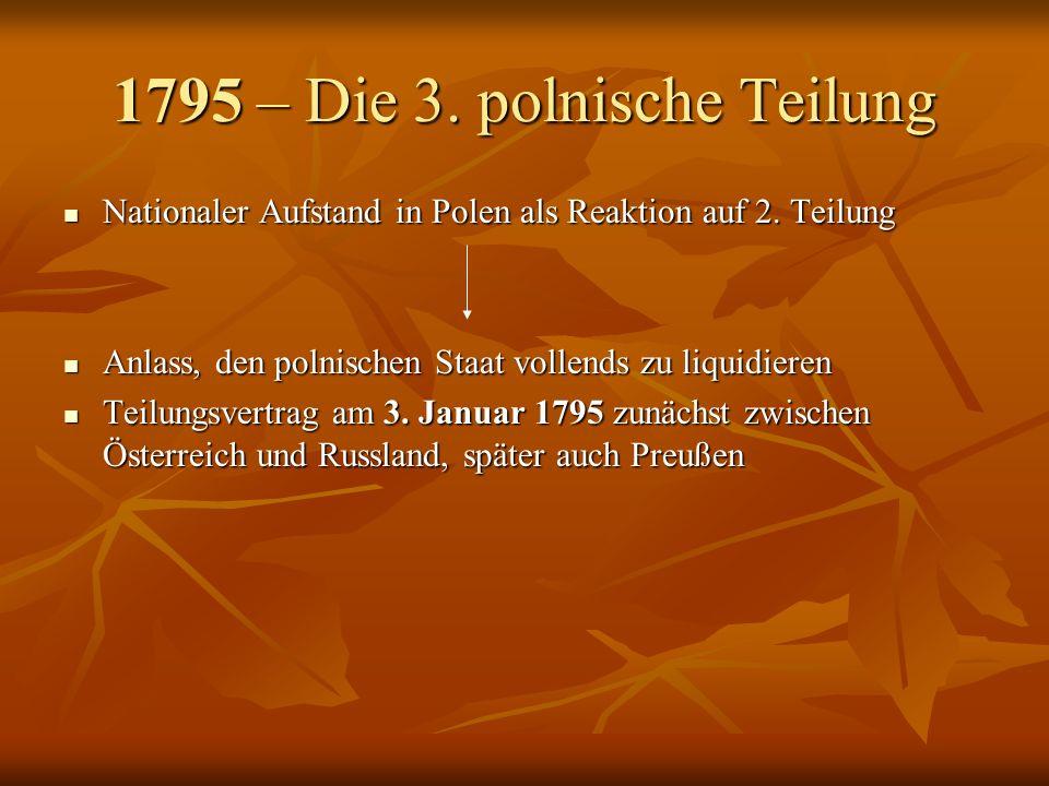 1795 – Die 3. polnische Teilung