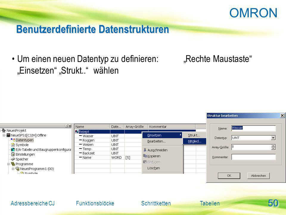 Benutzerdefinierte Datenstrukturen