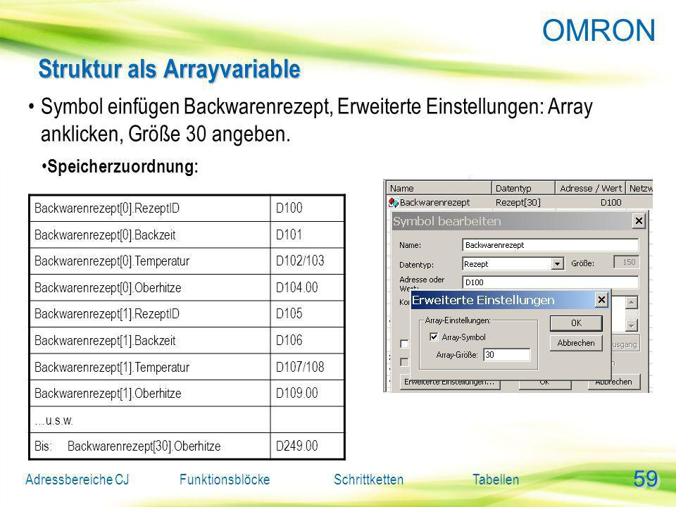 Struktur als Arrayvariable