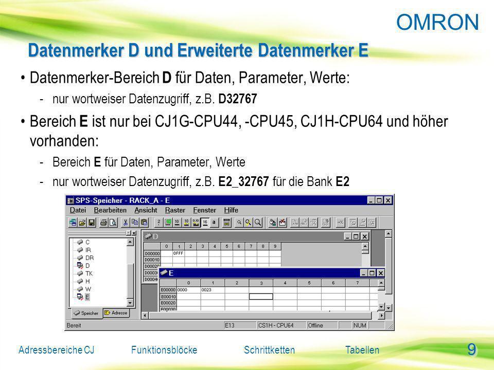 Datenmerker D und Erweiterte Datenmerker E