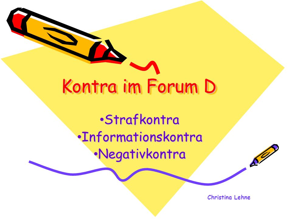 Strafkontra Informationskontra Negativkontra