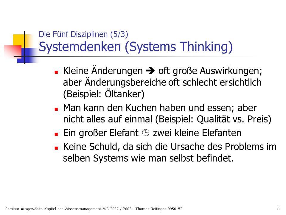 Die Fünf Disziplinen (5/3) Systemdenken (Systems Thinking)