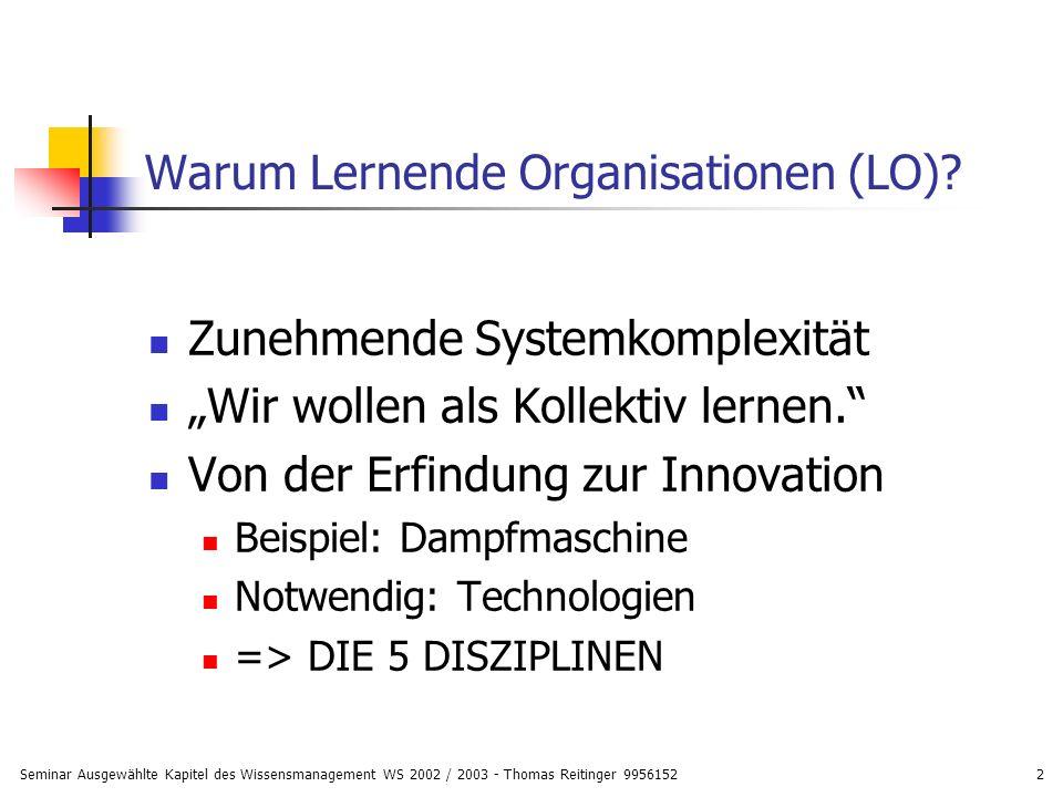 Warum Lernende Organisationen (LO)