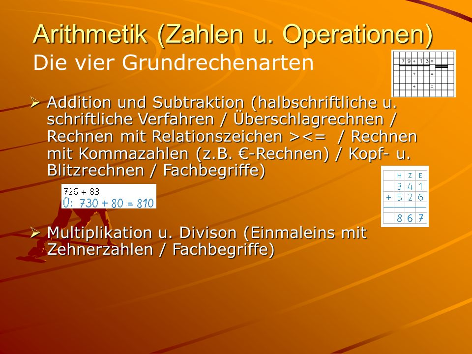 Arithmetik (Zahlen u. Operationen)