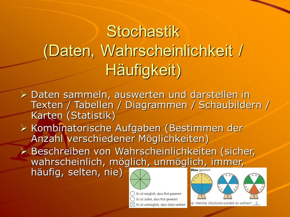 Stochastik (Daten, Wahrscheinlichkeit / Häufigkeit)