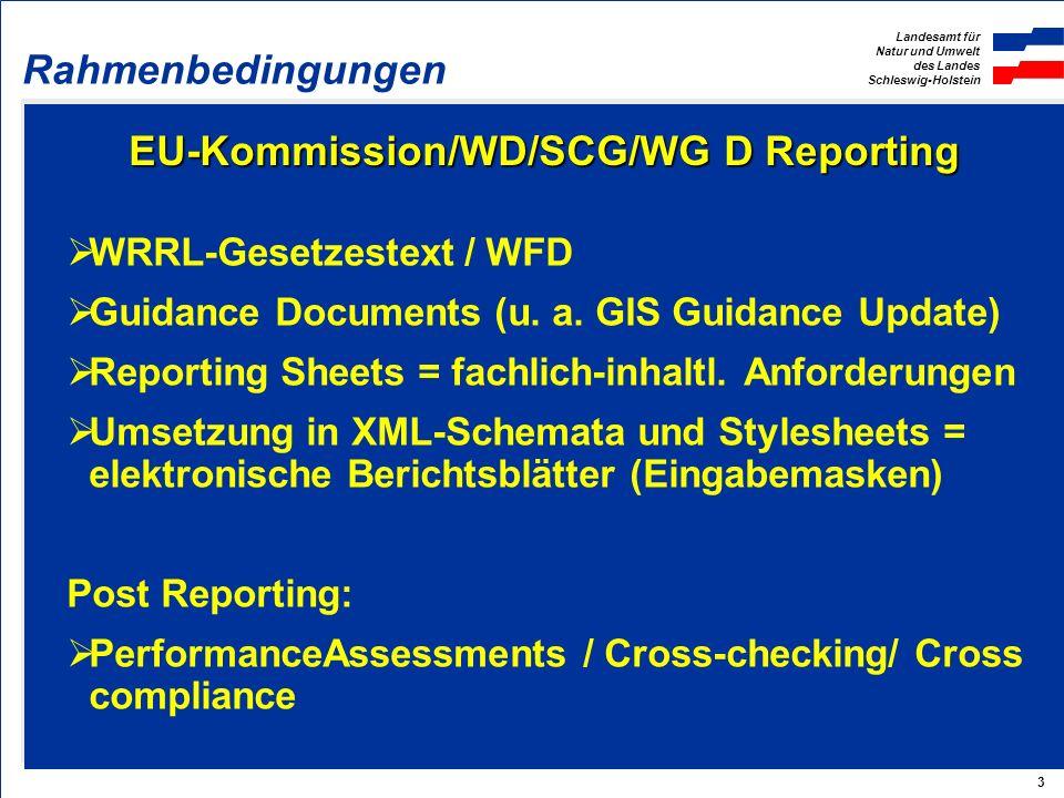 EU-Kommission/WD/SCG/WG D Reporting
