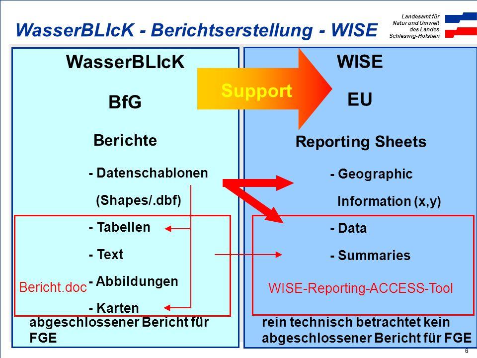 WasserBLIcK BfG Support WISE EU