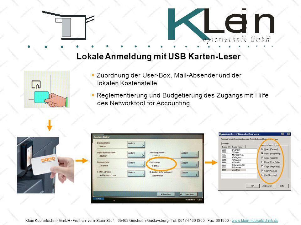 Lokale Anmeldung mit USB Karten-Leser