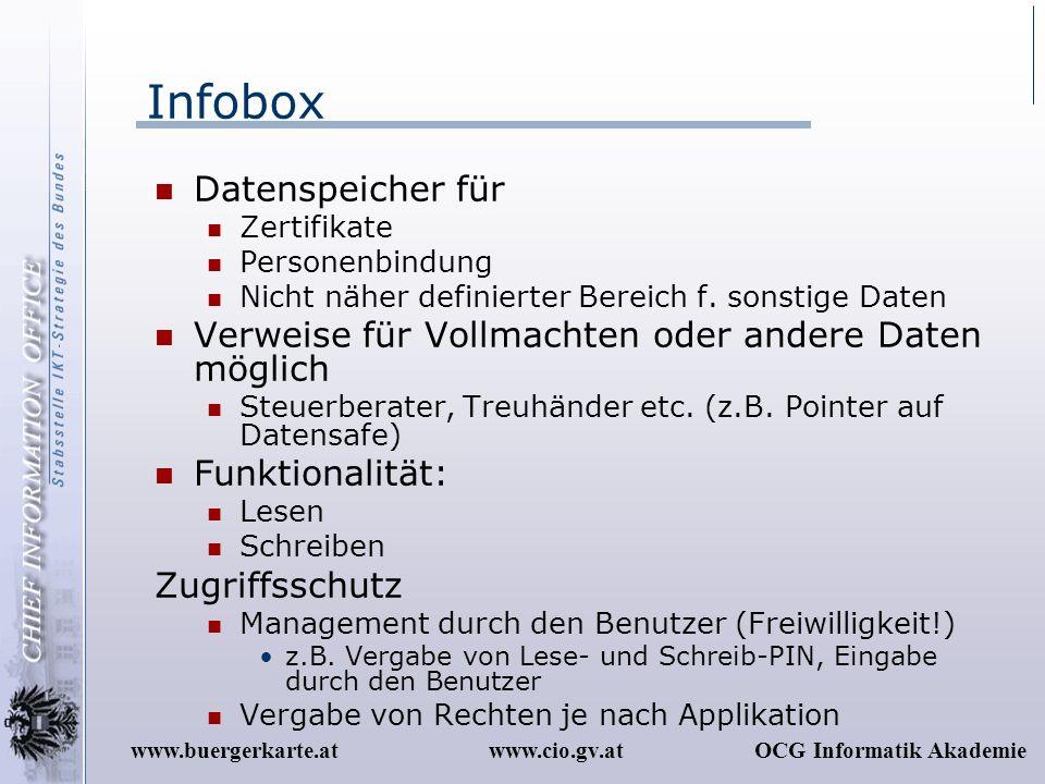 Infobox Datenspeicher für