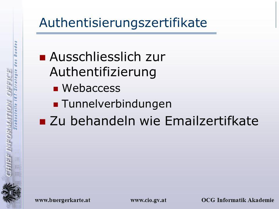 Authentisierungszertifikate
