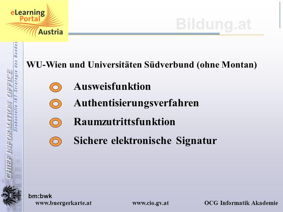 Bildung.at Ausweisfunktion Authentisierungsverfahren
