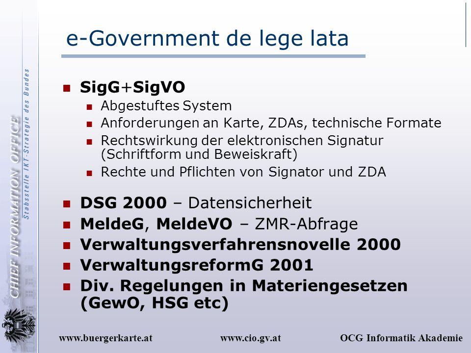e-Government de lege lata