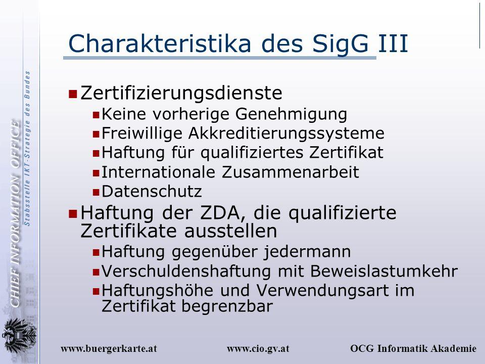 Charakteristika des SigG III