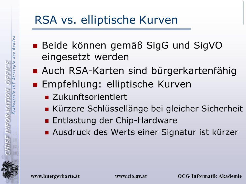 RSA vs. elliptische Kurven