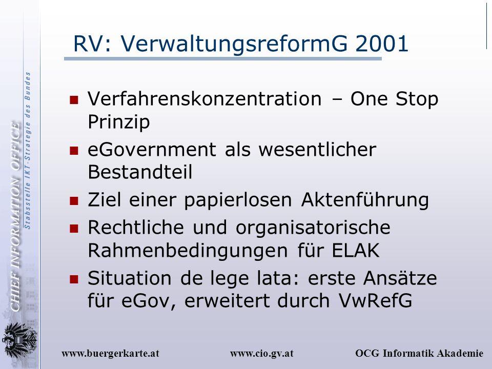 RV: VerwaltungsreformG 2001