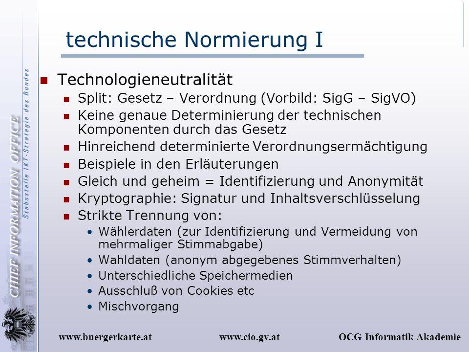 technische Normierung I
