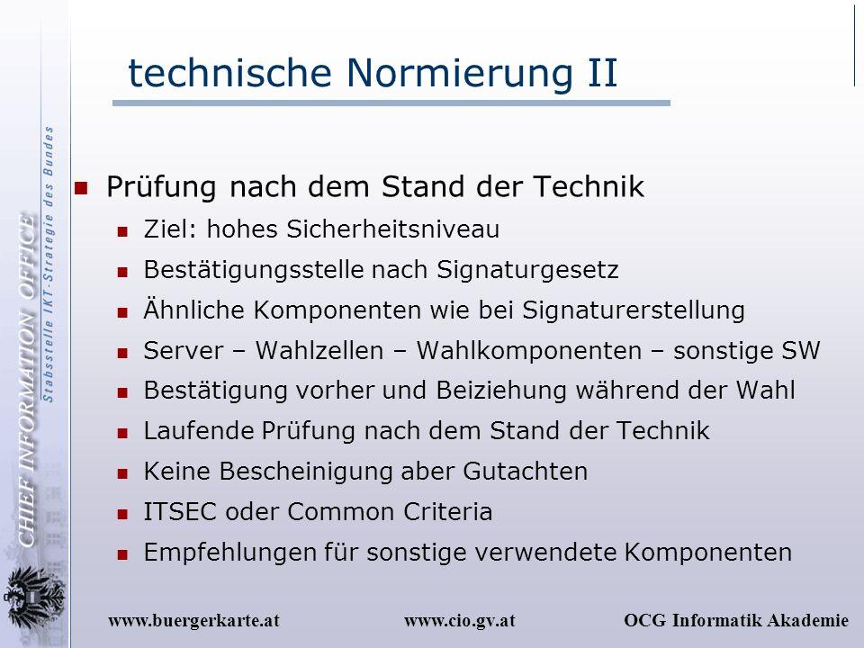 technische Normierung II