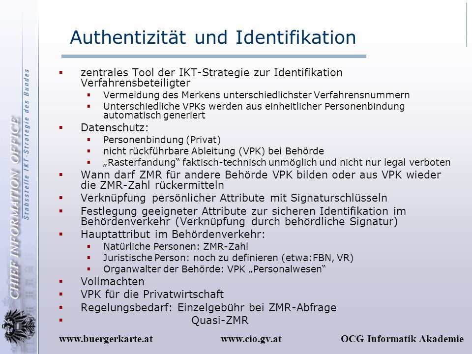 Authentizität und Identifikation