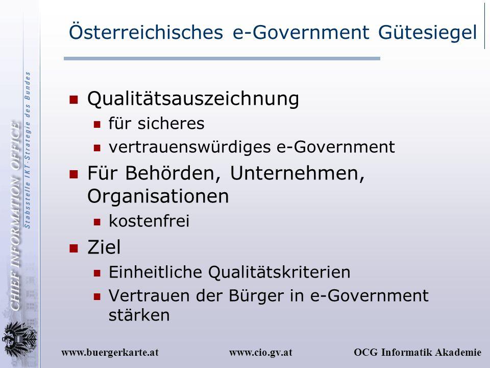 Österreichisches e-Government Gütesiegel