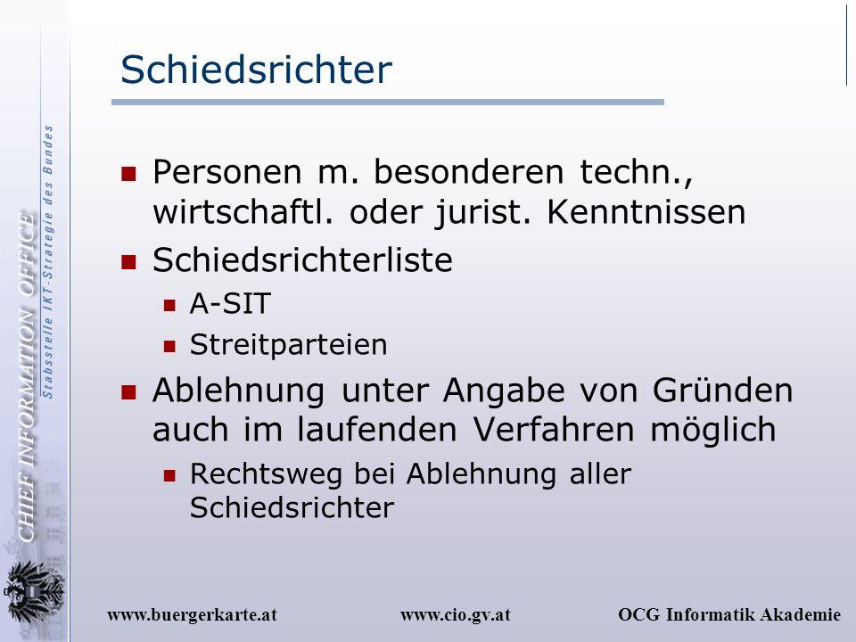 Schiedsrichter Personen m. besonderen techn., wirtschaftl. oder jurist. Kenntnissen. Schiedsrichterliste.