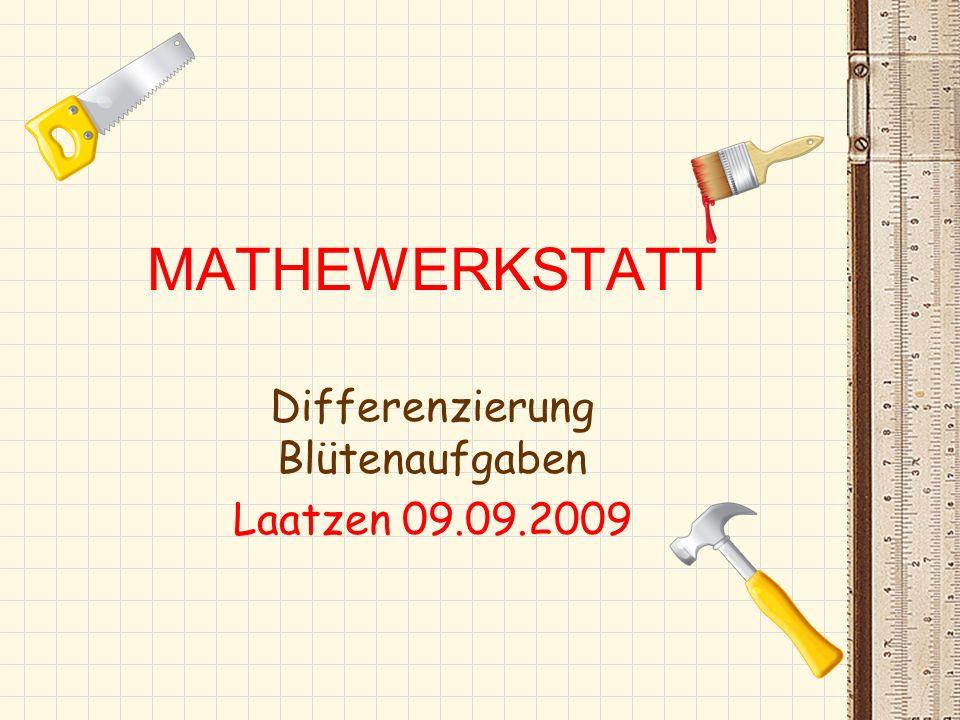 Differenzierung Blütenaufgaben Laatzen 09.09.2009