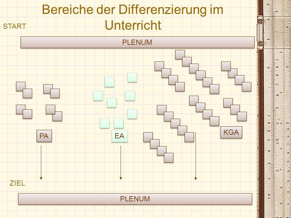 Bereiche der Differenzierung im Unterricht
