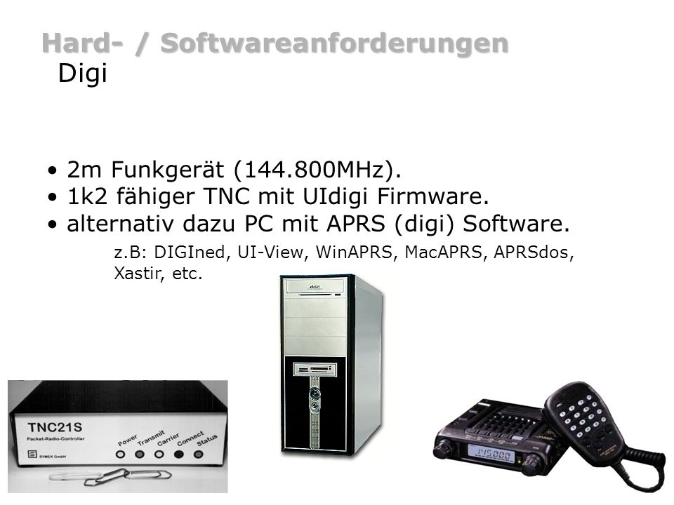 Hard- / Softwareanforderungen Digi