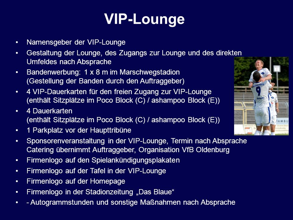 VIP-Lounge Namensgeber der VIP-Lounge