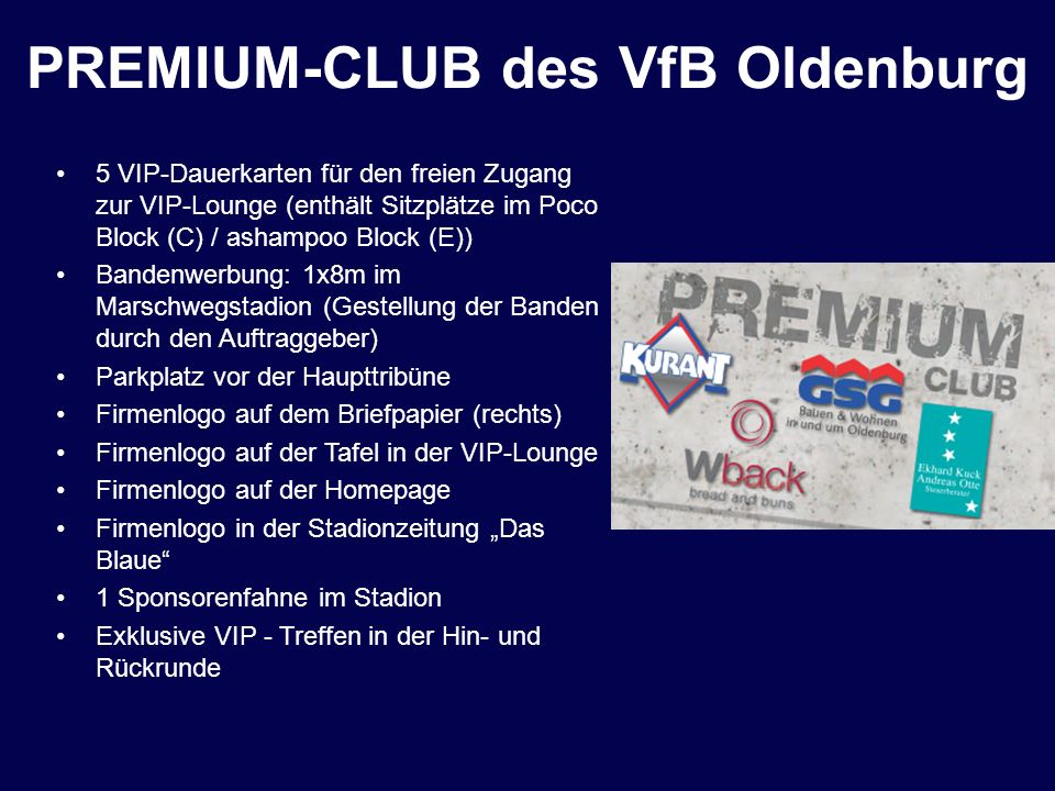 PREMIUM-CLUB des VfB Oldenburg