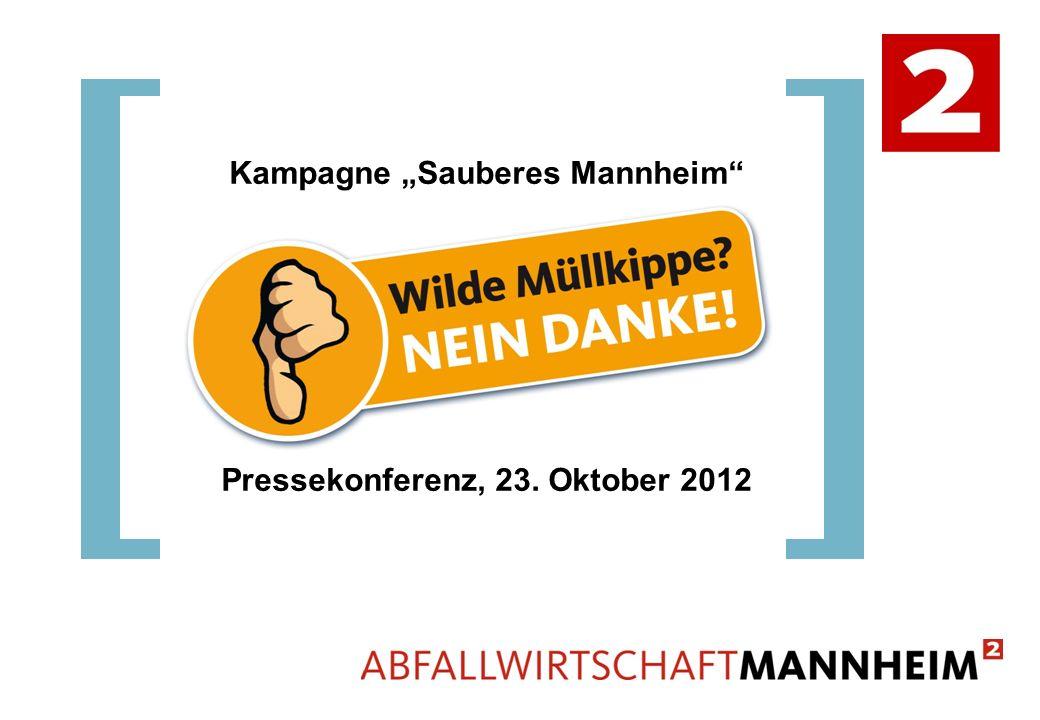 "Kampagne ""Sauberes Mannheim Pressekonferenz, 23. Oktober 2012"