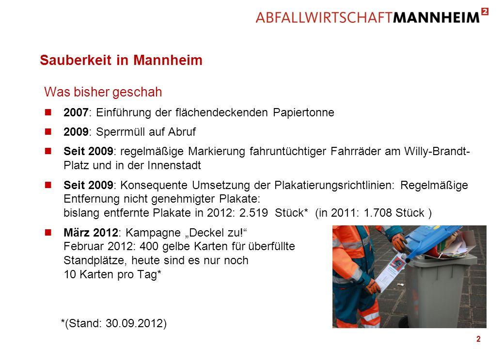 Sauberkeit in Mannheim