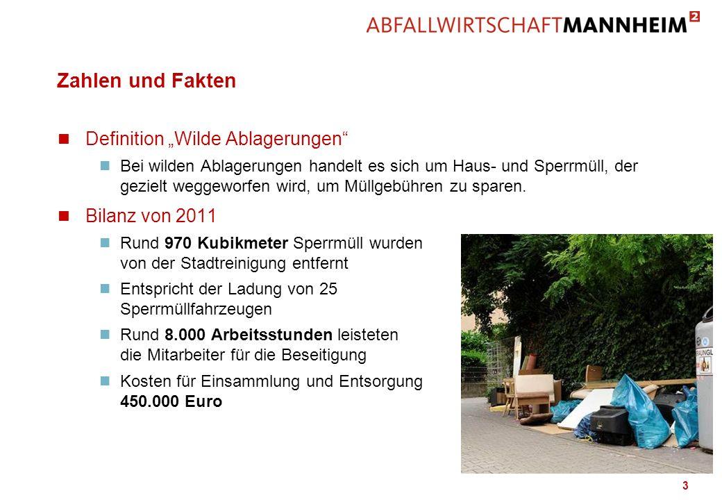 """Zahlen und Fakten Definition """"Wilde Ablagerungen Bilanz von 2011"""