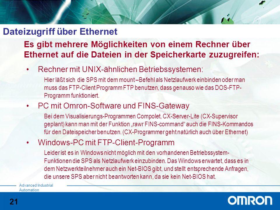 Dateizugriff über Ethernet