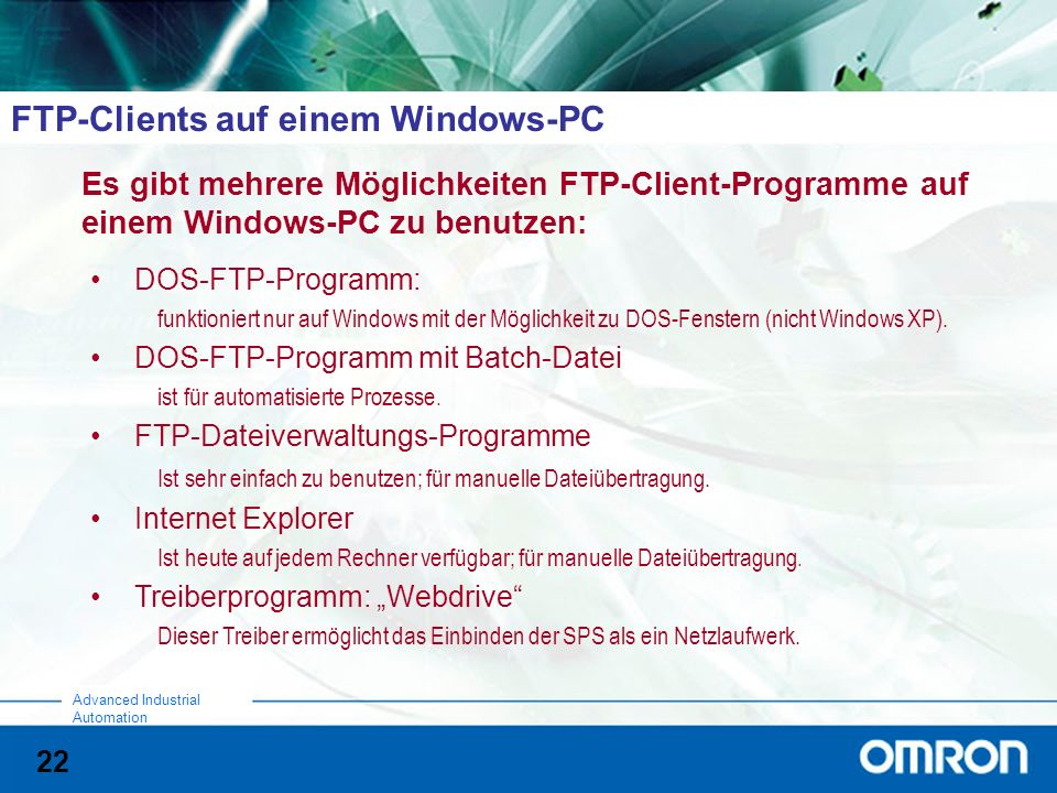 FTP-Clients auf einem Windows-PC