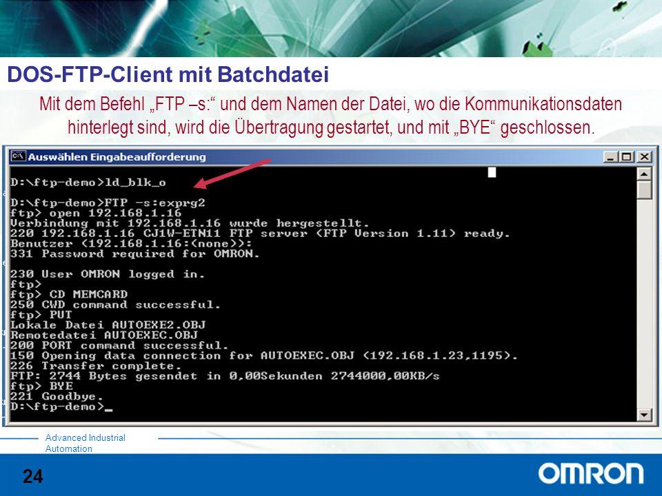 DOS-FTP-Client mit Batchdatei