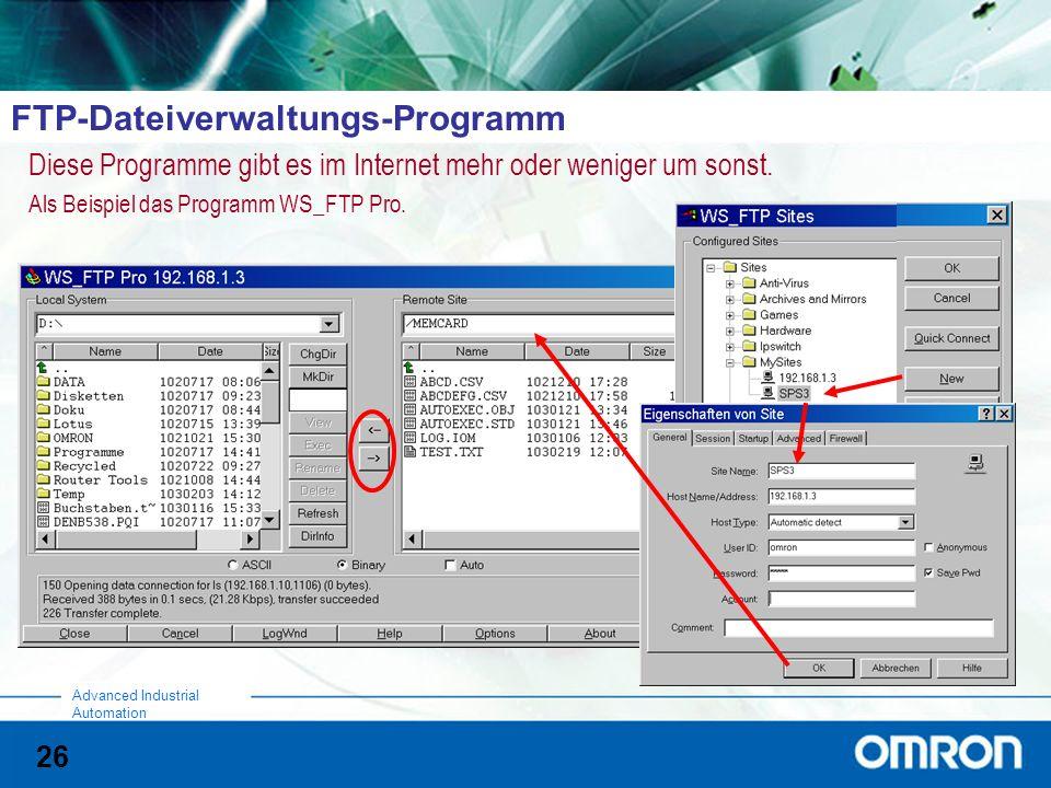 FTP-Dateiverwaltungs-Programm