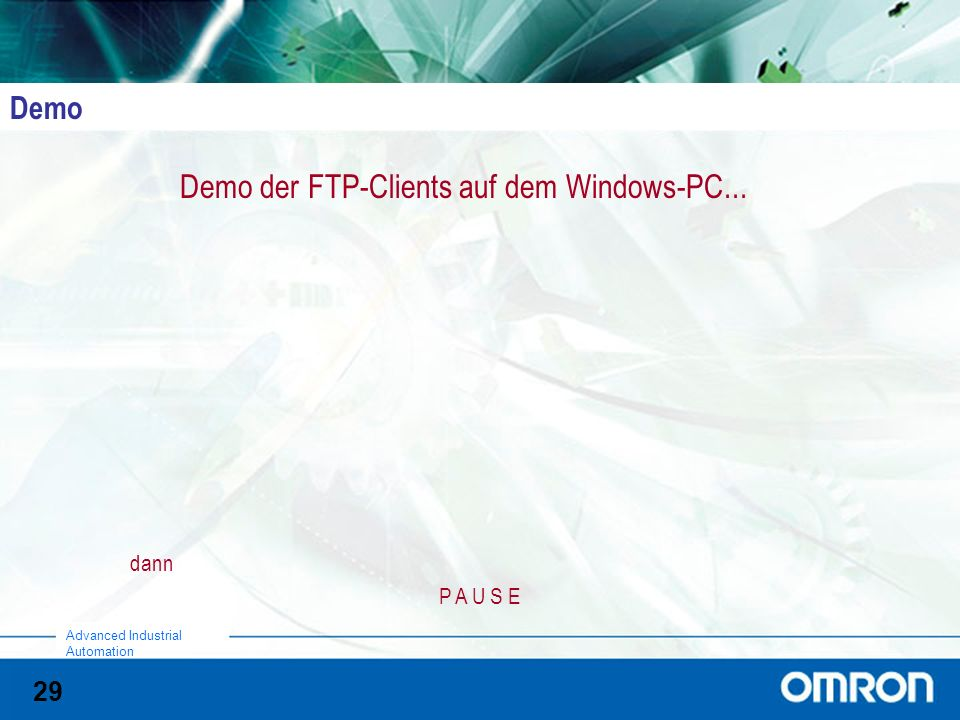 Demo der FTP-Clients auf dem Windows-PC...