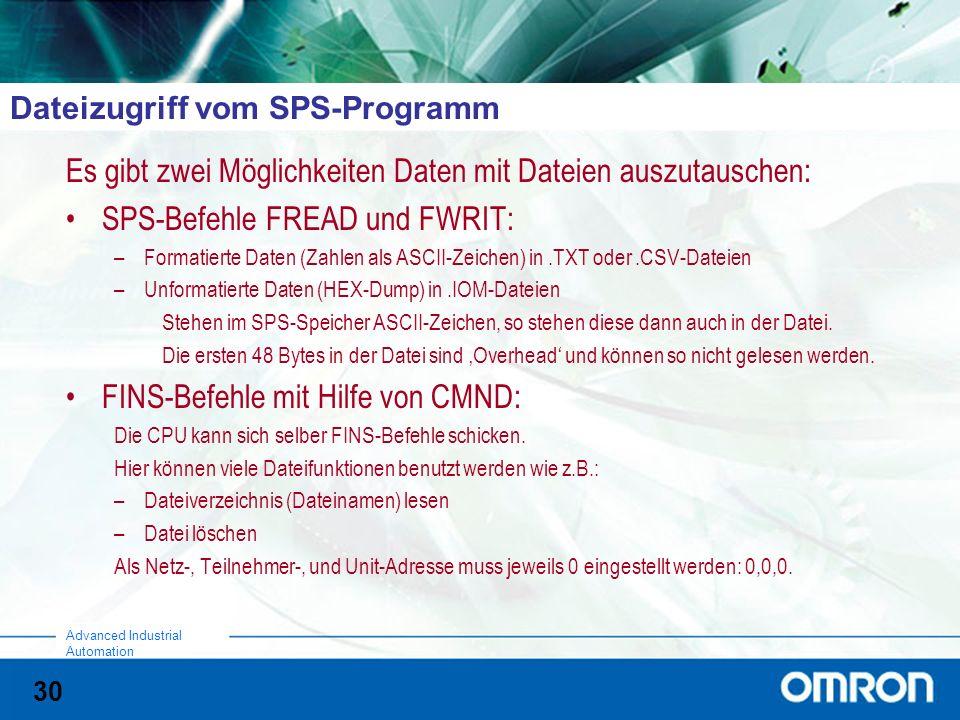 Dateizugriff vom SPS-Programm