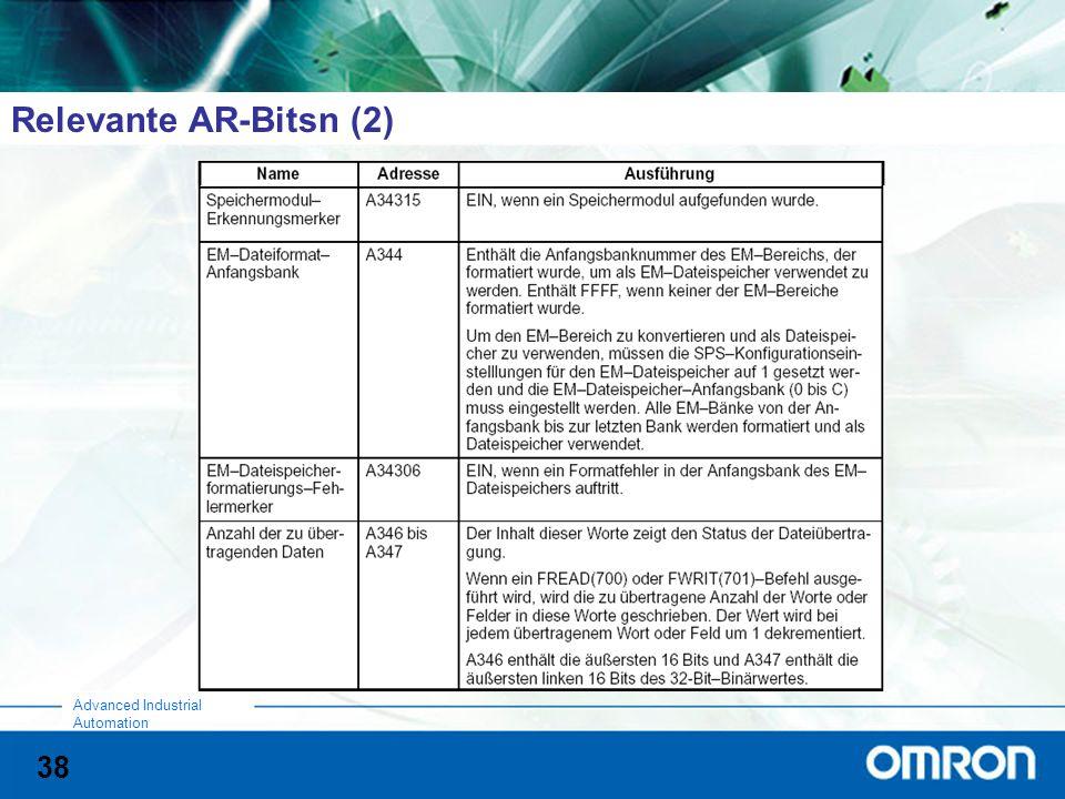 Relevante AR-Bitsn (2)
