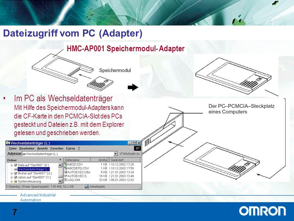 Dateizugriff vom PC (Adapter)