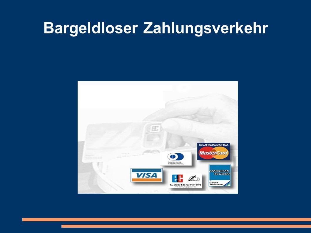 Bargeldloser Zahlungsverkehr