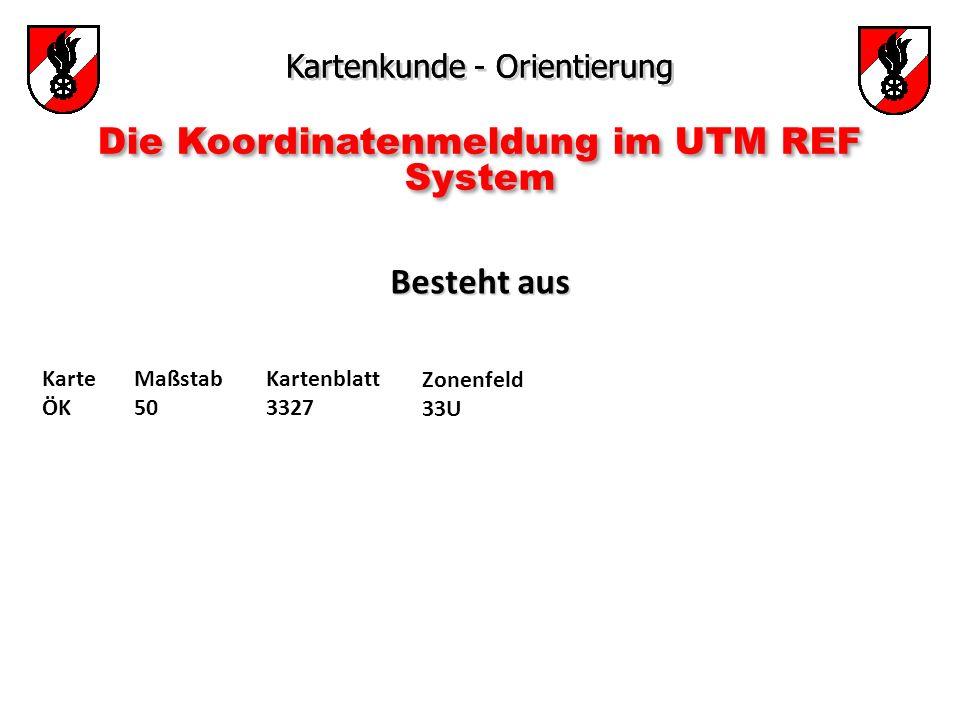 Die Koordinatenmeldung im UTM REF System