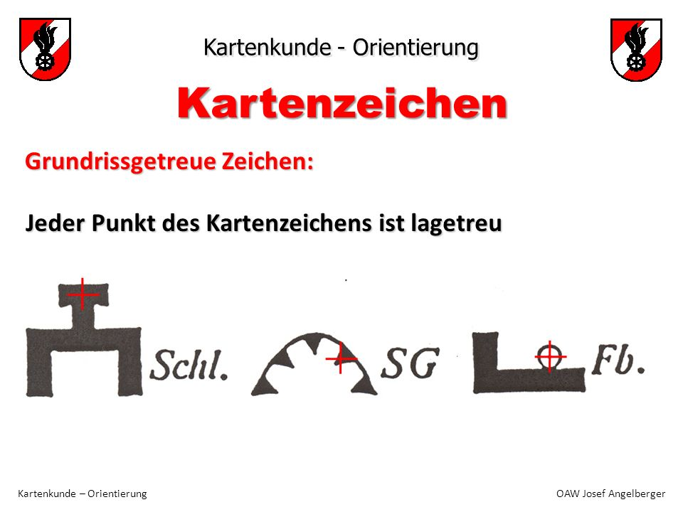 Kartenzeichen Grundrissgetreue Zeichen: