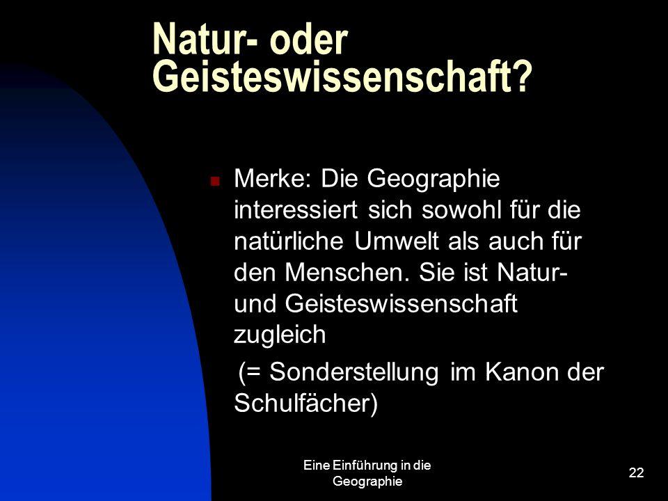 Natur- oder Geisteswissenschaft