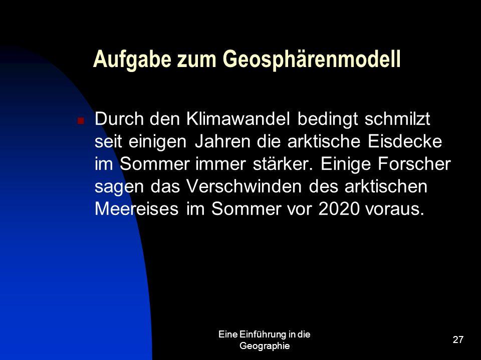 Aufgabe zum Geosphärenmodell